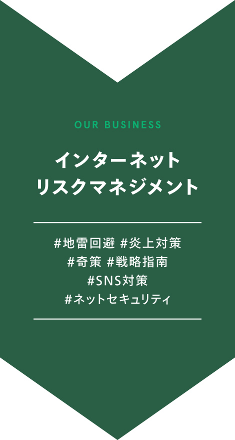 OUR BUSINESS インターネットリスクマネジメント